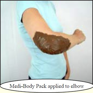 mudpack woman's elbow